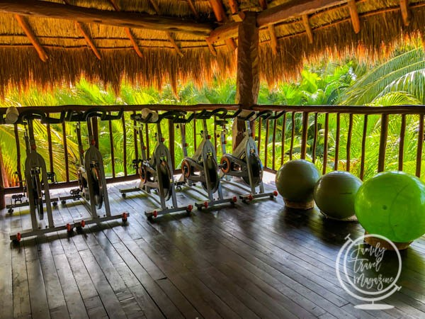 Fitness room at Akumal