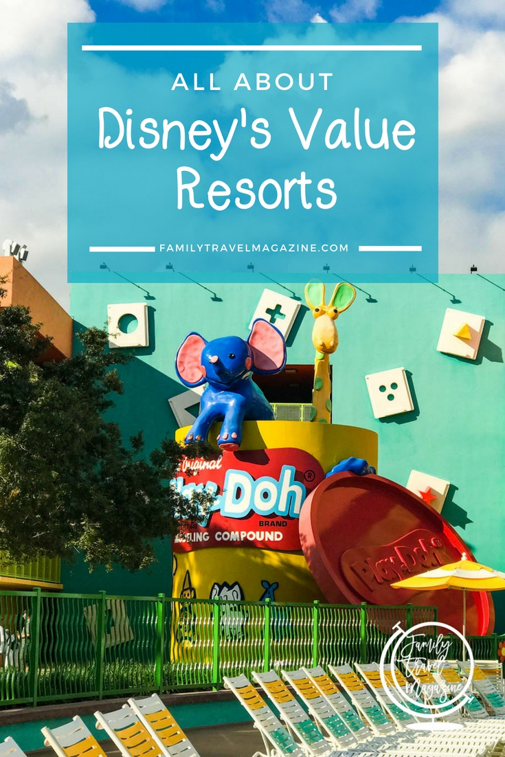 An overview of Disney's Value Resorts, which include the three All Star resorts, Pop Century, and Disney's Art of Animation Resort.