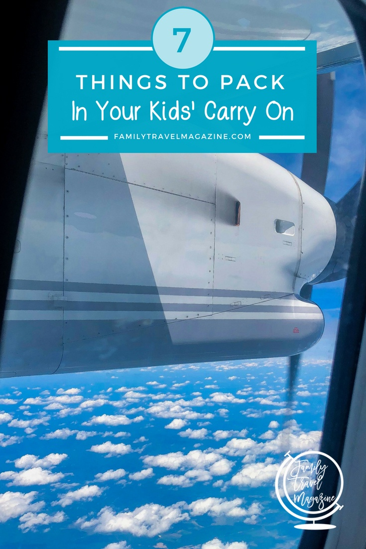 Here are a few important things to pack in your kids' carry on bag to make sure that they're happy, comfortable, and entertained whether your trip is smooth and on schedule or if there are delays and challenges along the way.