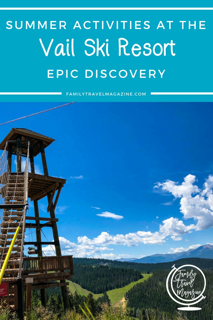 Summer Activities at Vail Ski Resort Epic Discovery, including ziplining, the mountain coaster, the gondola, and adventure courses.