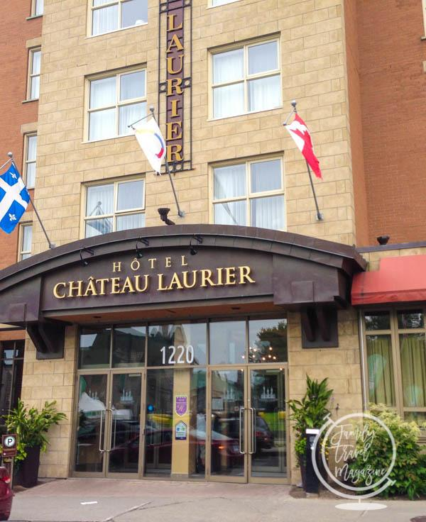 The exterior of the Hotel Chateau Laurier