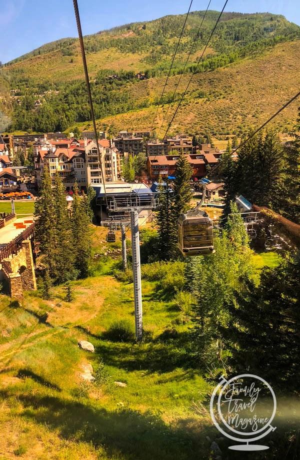 Gondola up to Vail Mountain Resort
