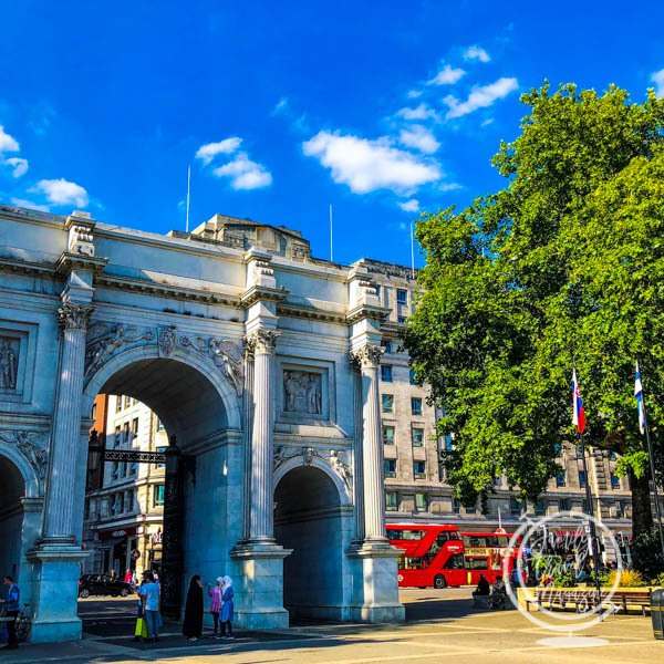 Marble Arch in London at Hyde Park
