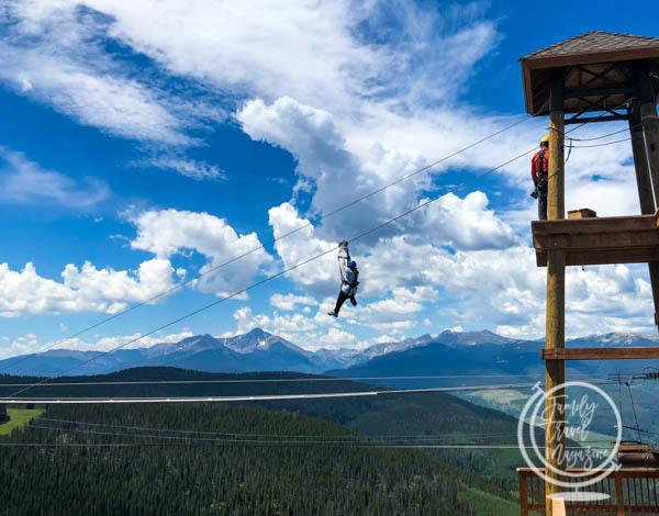 Vail mountain zip lining