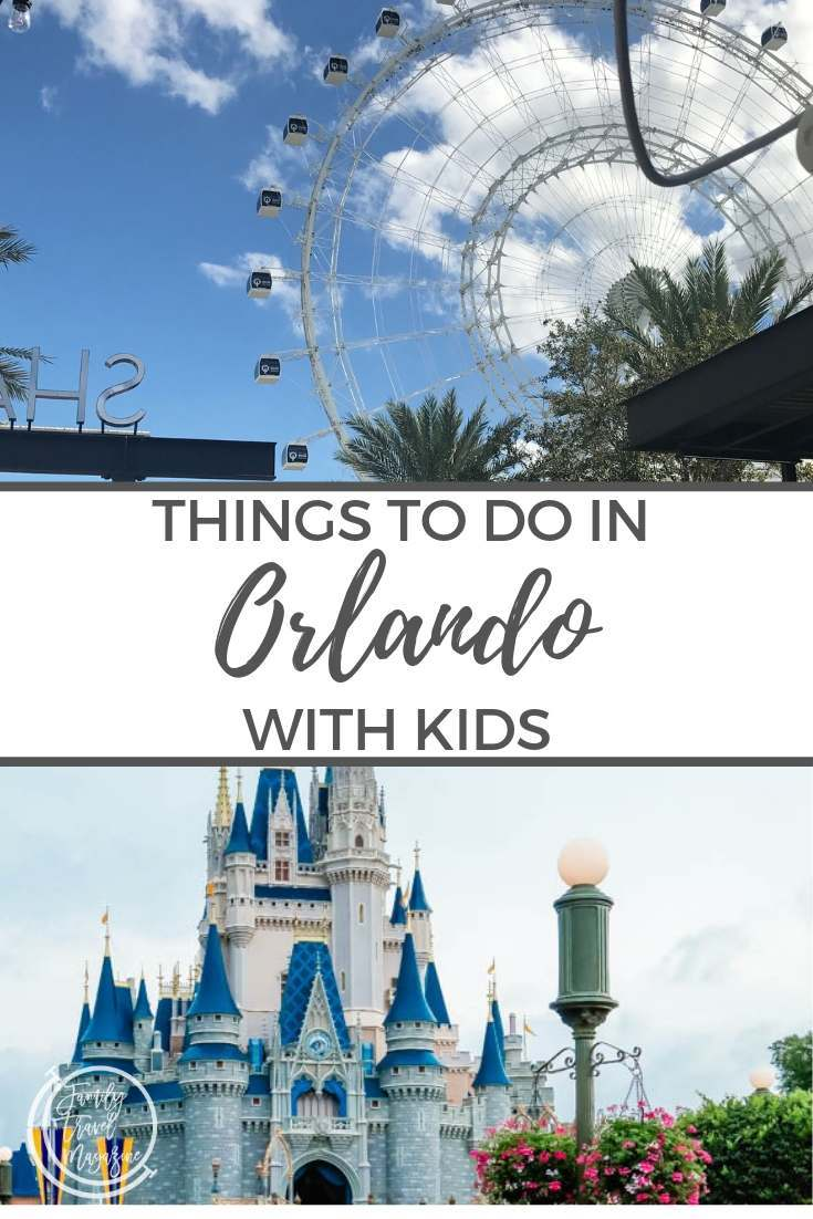 Things to do in Orlando with kids, including theme parks like the Magic Kingdom and Universal studios, as well as seeing Florida wildlife.