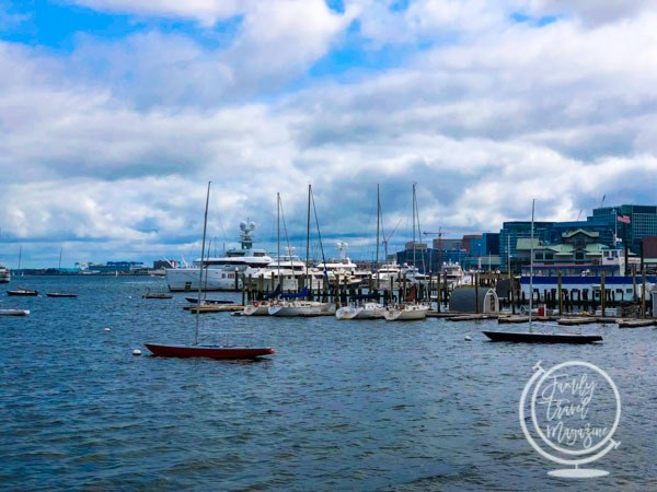 The Boston waterfront