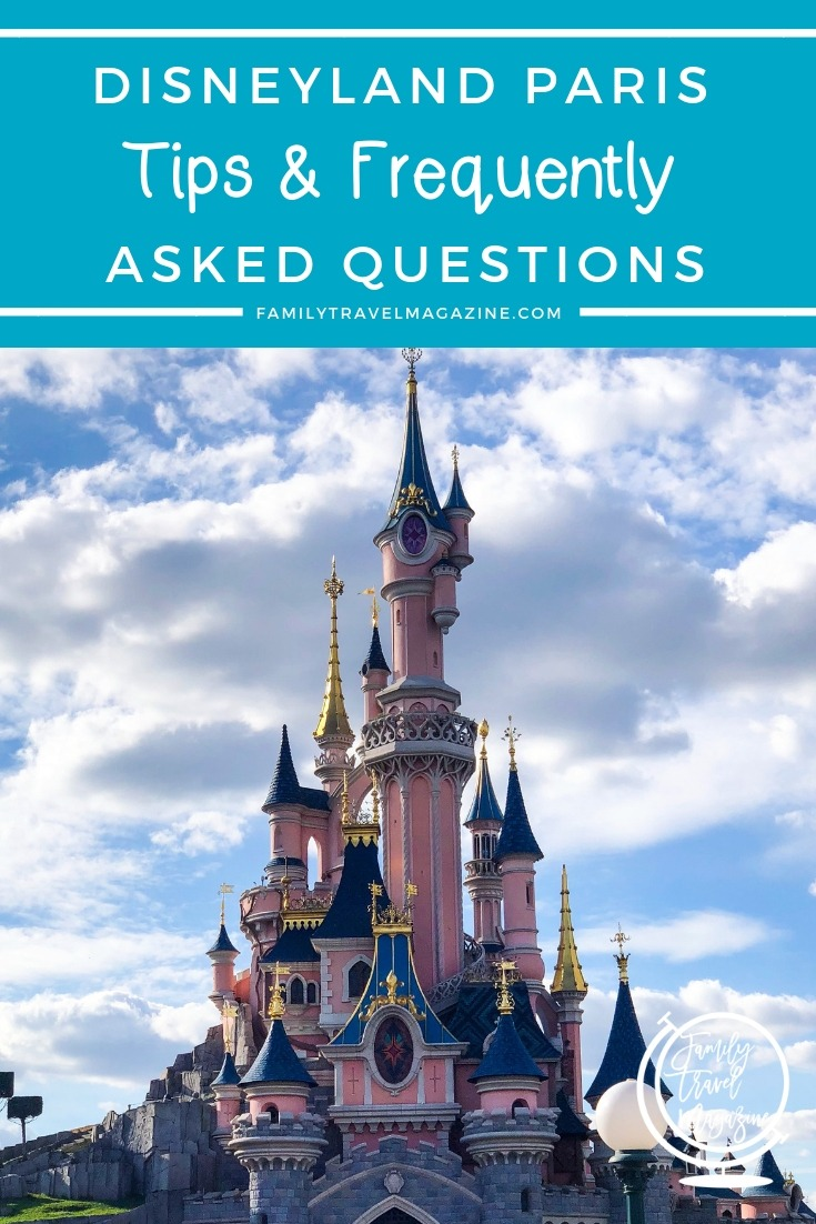 Disneyland Paris Tips and Frequently Asked Questions including FastPass, meal plans, opening hours, and how much time to spend.