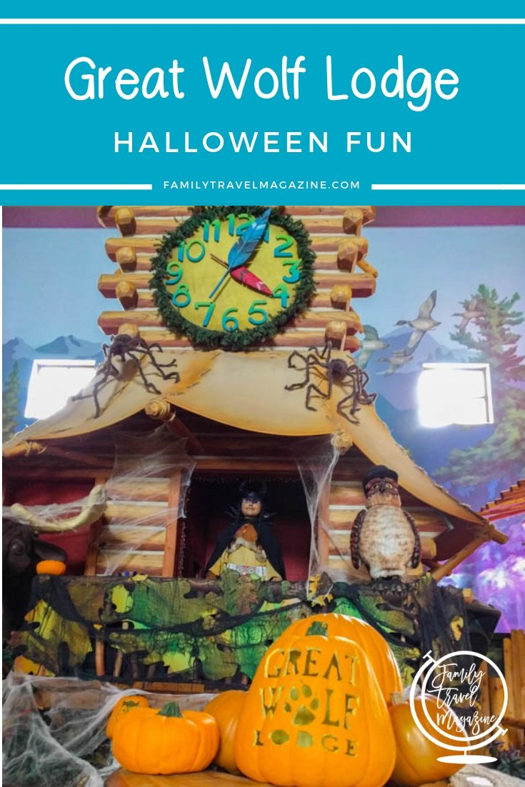 Great Wolf Lodge Halloween activities and fun, including costume parades, face painting, MagiQuest, and more.