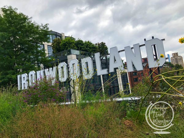 Ironwoodland Sign on the High Line