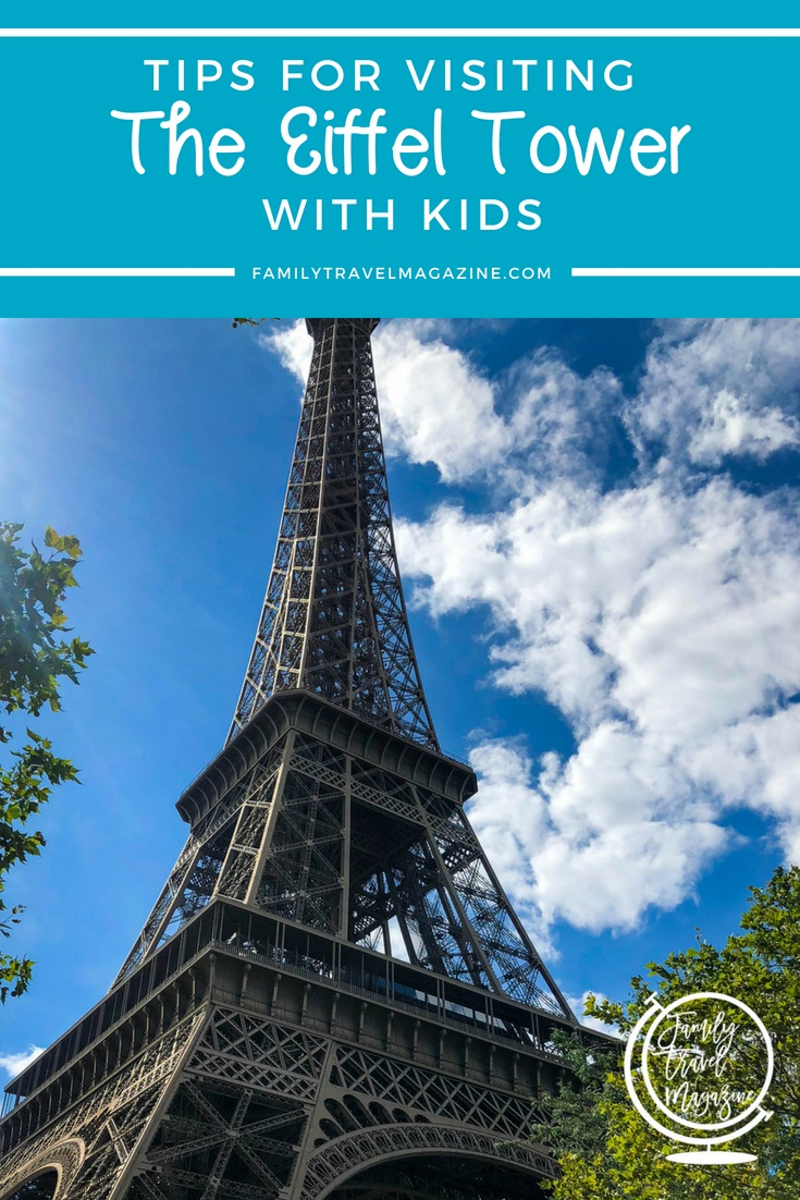 Tips for visiting the Paris Eiffel Tower with kids, including information on tickets, what floor is the best, and where to get great views of the tower.