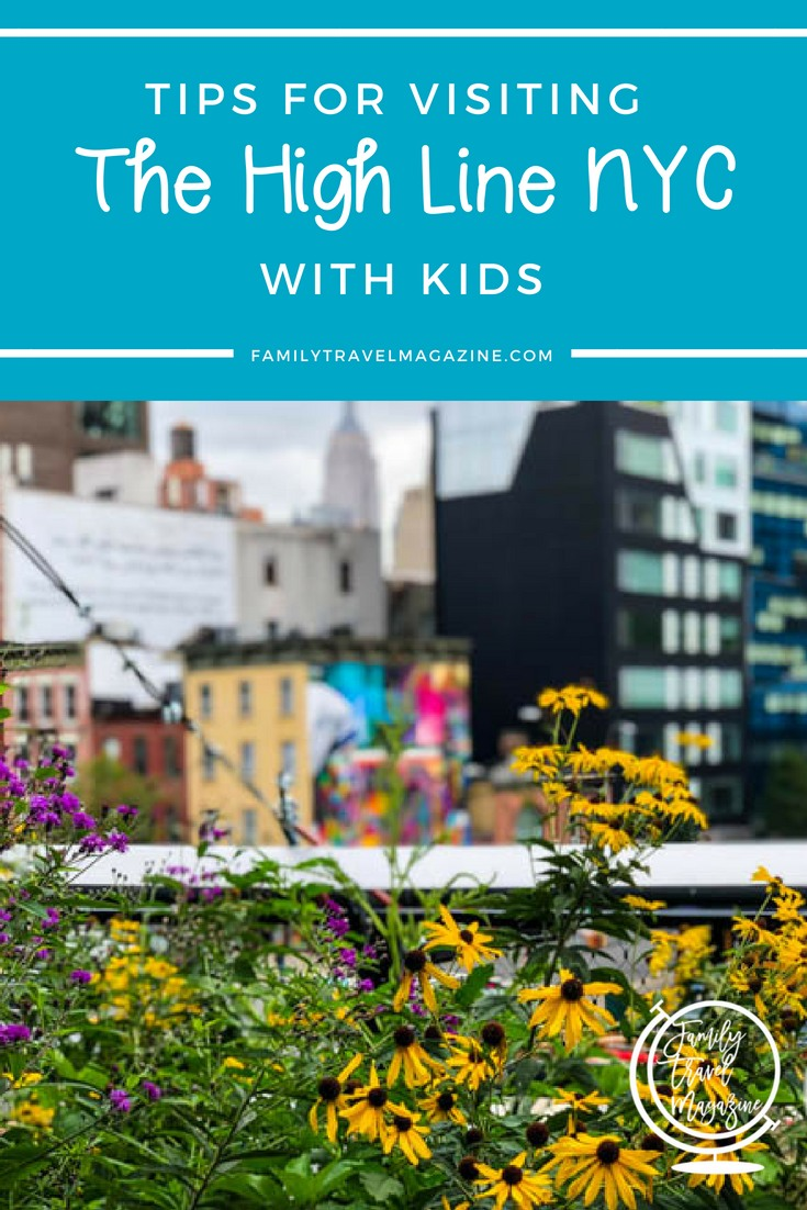 Tips for visiting the High Line NYC with kids, including amenities, entrances, what is allowed, and what you'll see on the High Line.