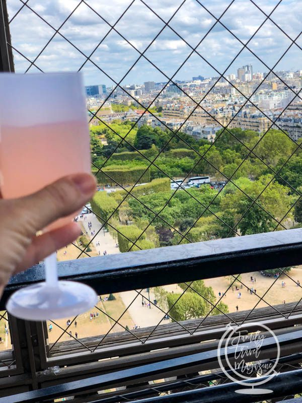 Wine on the first floor of the Eiffel Tower