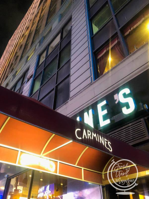 Carmine's in Times Square NYC