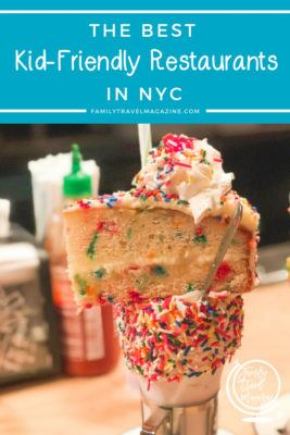 Kid friendly restaurants in NYC, including places with entertainment, afternoon tea, family style portions, and more.