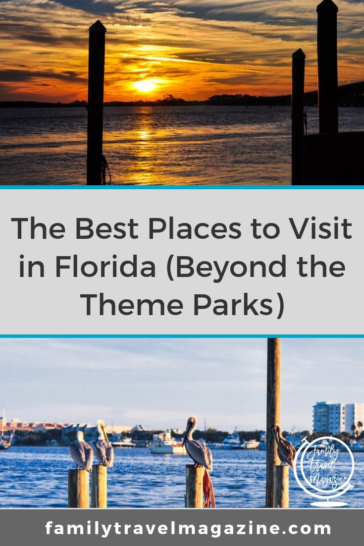Best places for Florida vacations beyond the theme parks, including destinations like Saint Augustine, Amelia Island, Marco Island, and more.