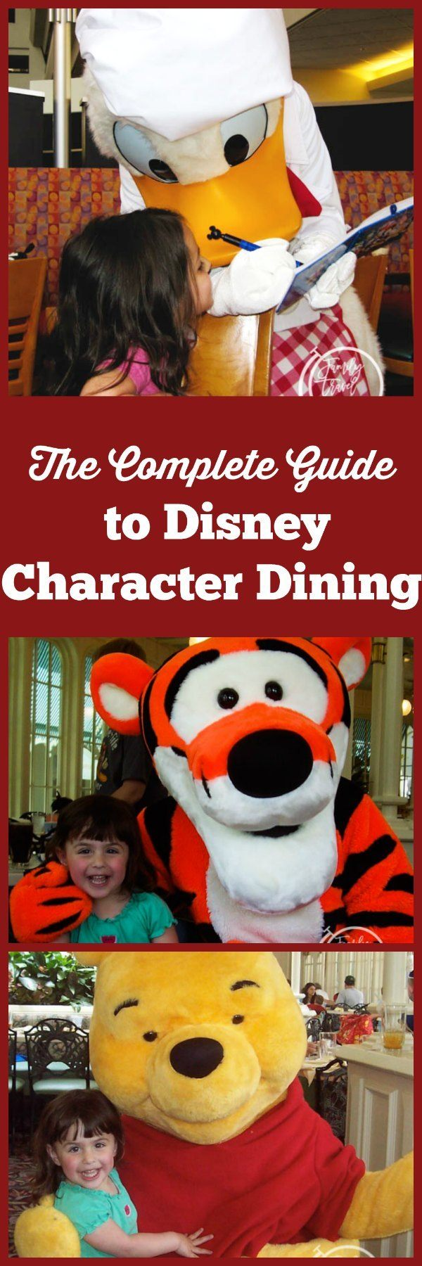The complete guide to Disney character dining, including character dining in the parks and at the resort hotels.