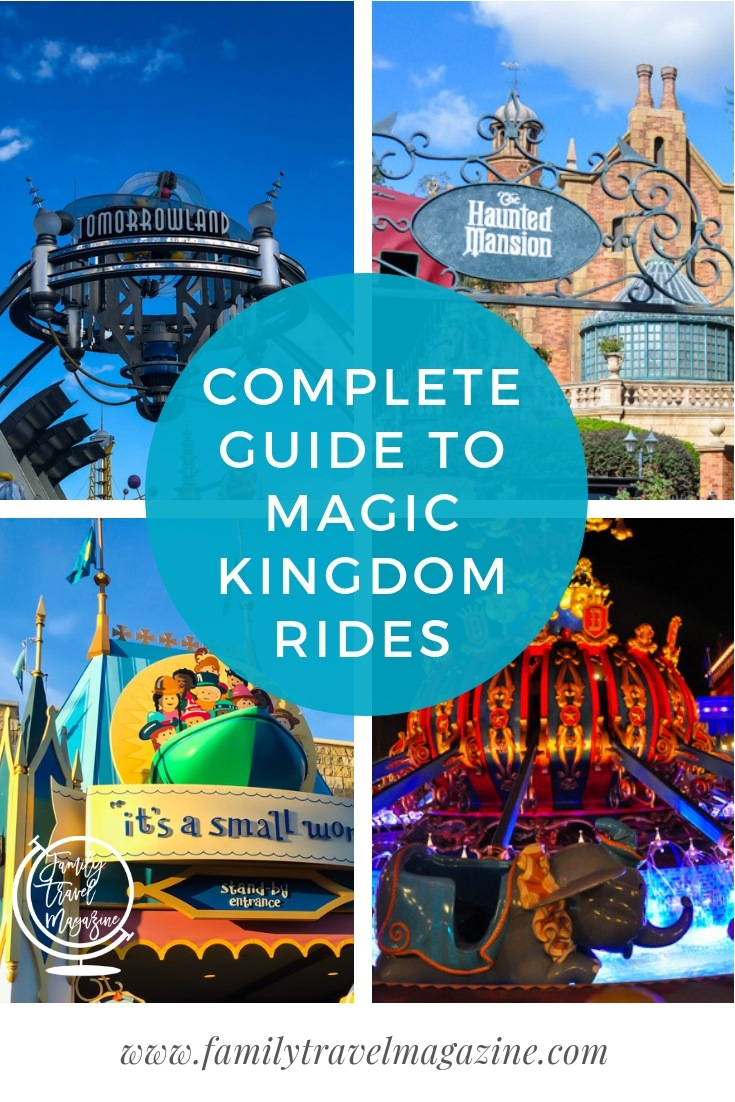 The complete guide to the Magic Kingdom rides in Orlando Florida, including a list of rides by land, and an overview of what is best for toddlers.