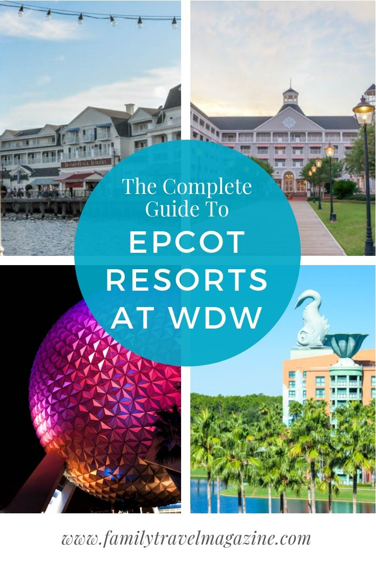 Epcot resorts for a Walt Disney World family vacation, including the Yacht and Beach Clubs, the Swan and Dolphin, and the Boardwalk.