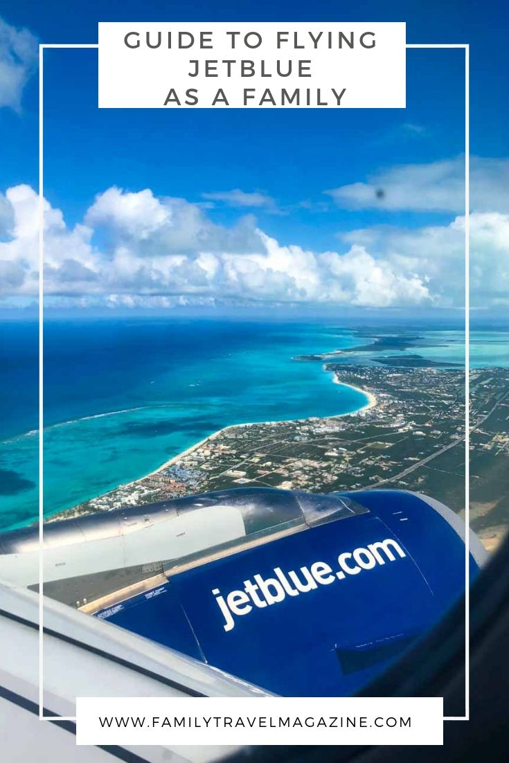 Guide to flying JetBlue Airlines as a family, including getting seats together, fare classes, and baggage fees.