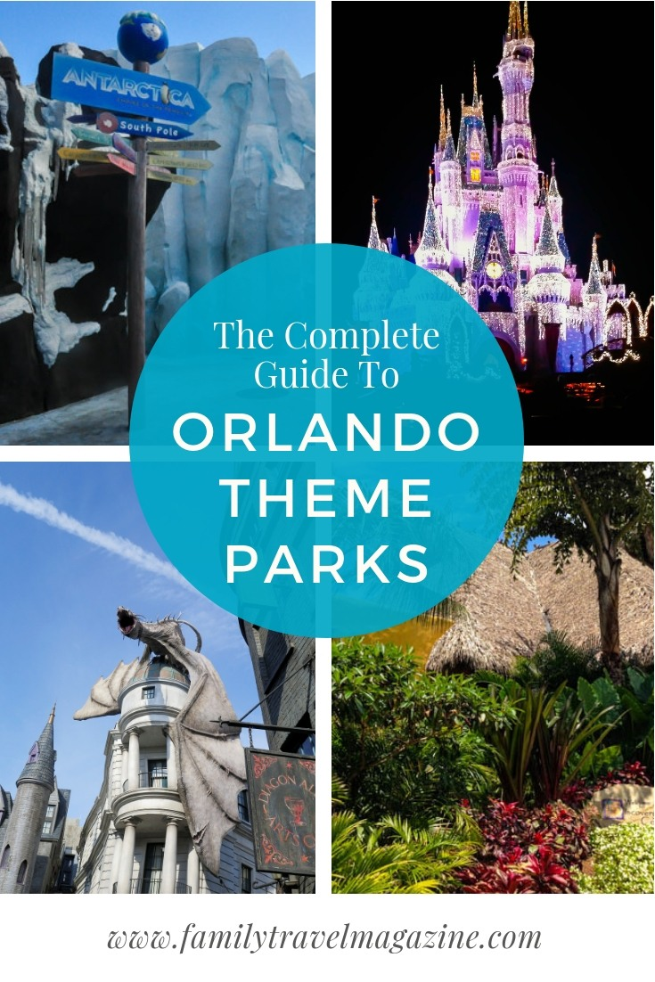 The complete guide to Orlando theme parks, including the parks at Walt Disney World, Universal Orlando Resort, Seaworld, and LEGOLAND.