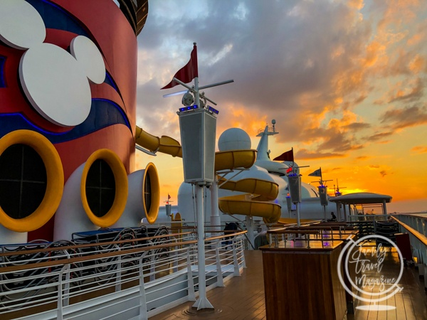 The Disney Magic at Sunset