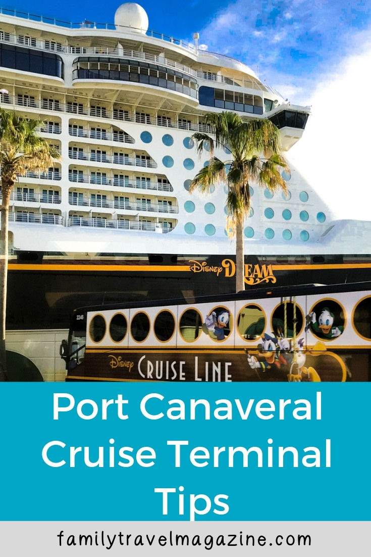 Port Canaveral Cruise terminal tips and information for cruisers - specifically for Disney Cruise Line cruisers.