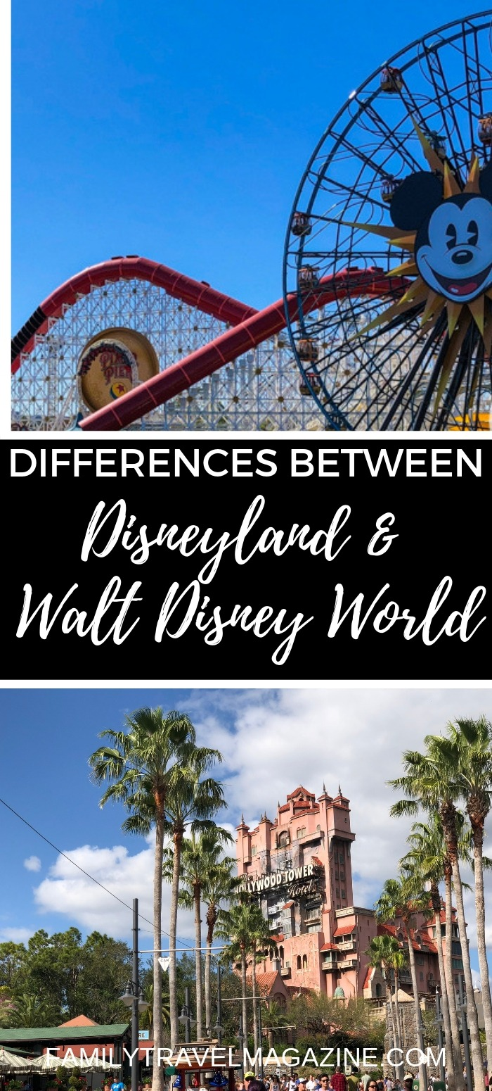There are some small and large differences between Disneyland and Disney World. If you are familiar with one of the parks but not the other, here's what you need to know about the differences.