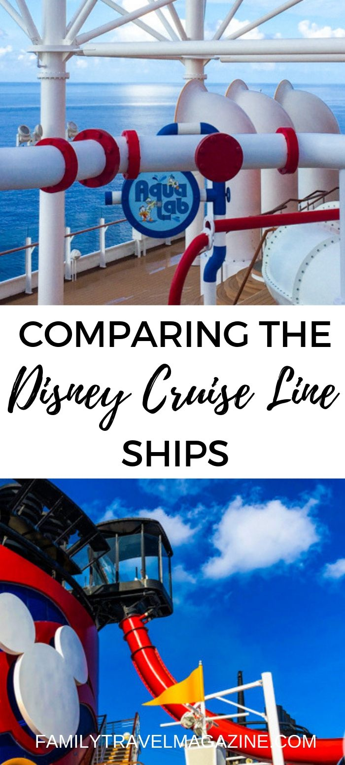 Comparing the Disney Cruise Ships, including itinerary options, amenities and activities on each, and what the best ship is (in my opinion).