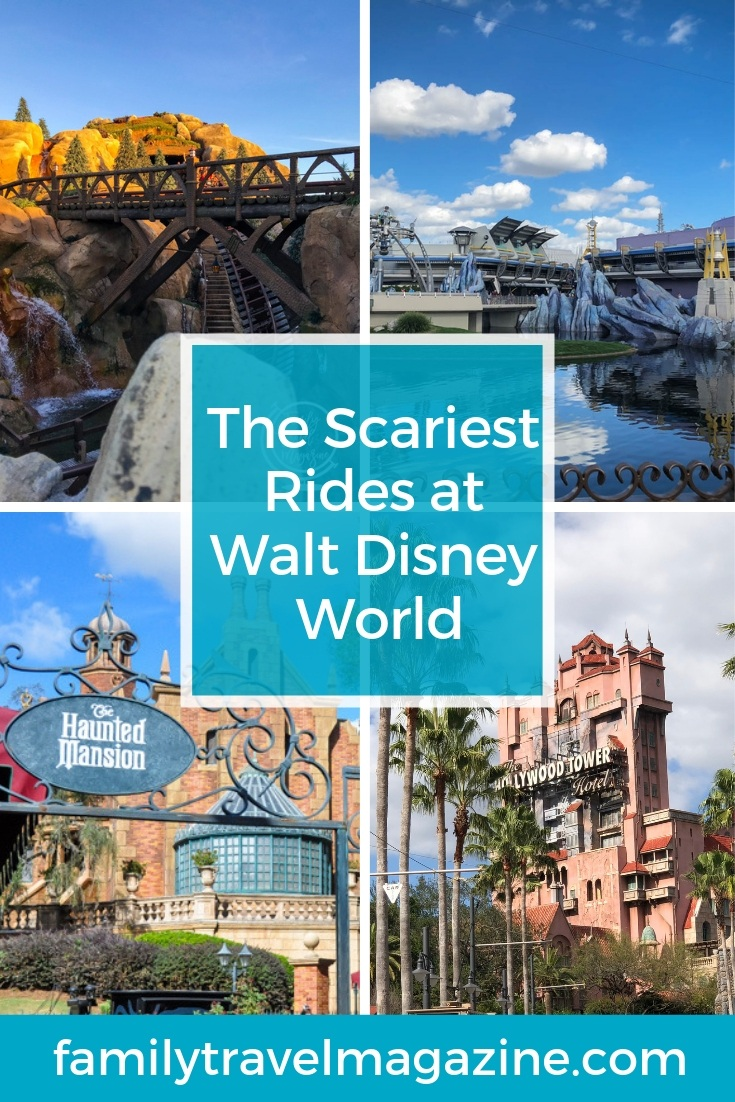 The scariest rides at Disney World, including dark rides, frightening rides, and rides with a big drop.