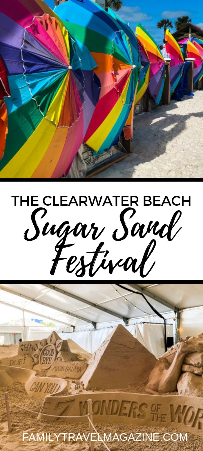An overview of the Clearwater Sugar Sand Festival, a sand sculpting festival taking place in the spring right on the famous Pier 60 on Clearwater Beach.
