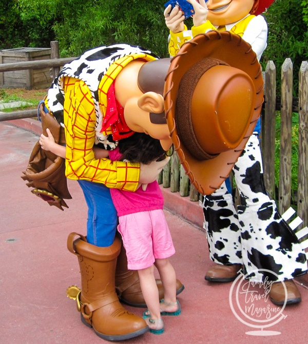 Woody and Jessie in the parks