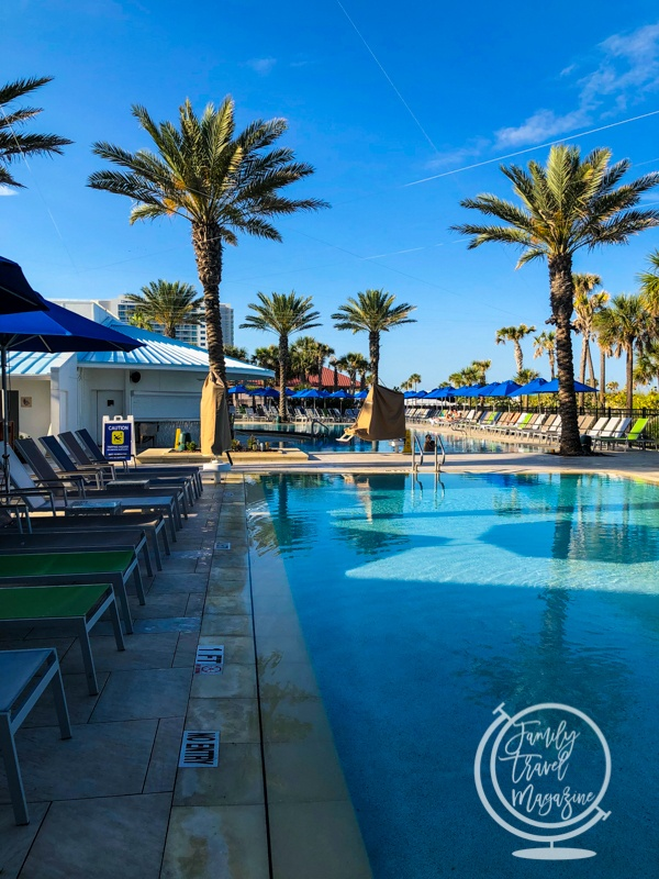 The pool area at the Hilton Clearwater Beach Resort and Spa