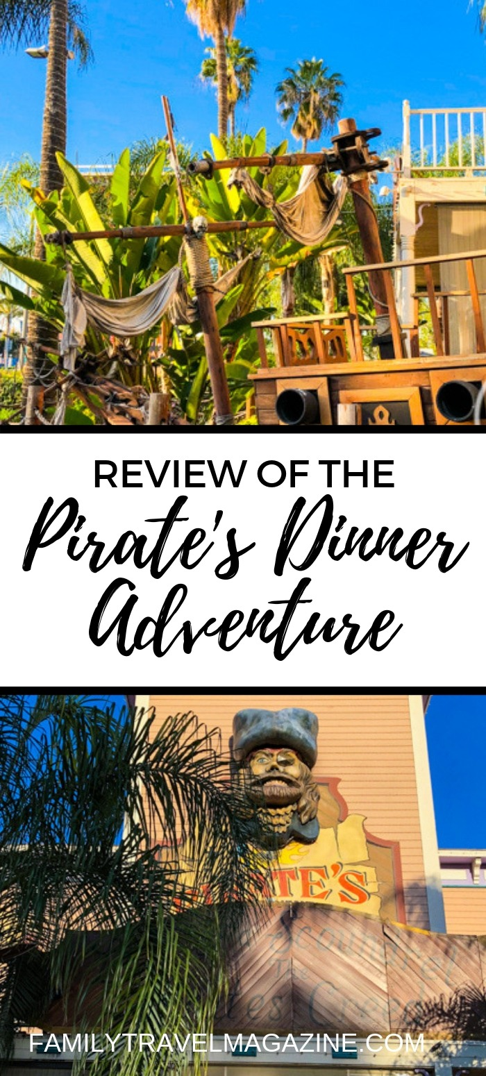 A review of the Pirate's Adventure Dinner, an interactive dinner show, located in Buena Park California - with another location in Orlando.