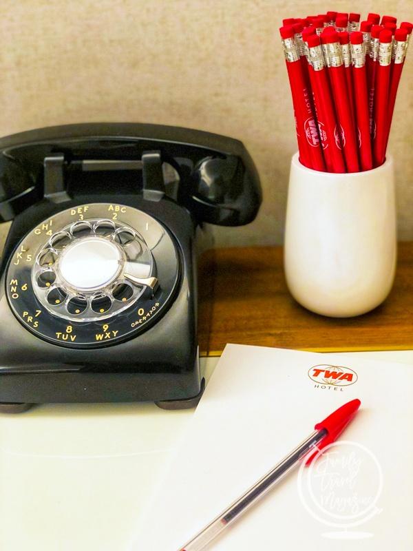 Rotary phone at the TWA Hotel