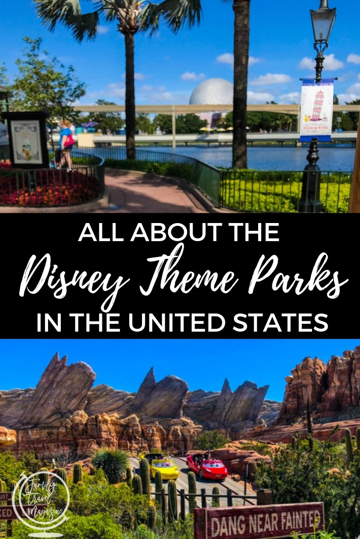 All about the Disney theme parks in the United States, including the four parks at Walt Disney World and the two parks at Disneyland.