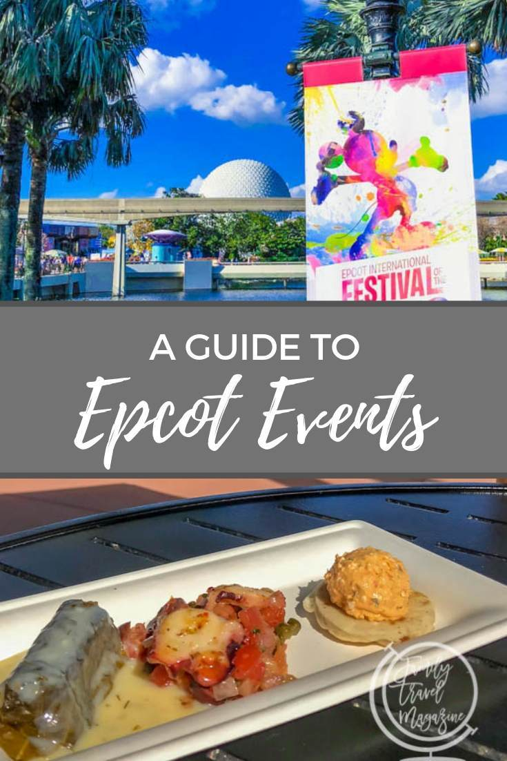 During select times of the year, Walt Disney World is home to several different Epcot events, including the Epcot International Food and Wine Festival and the Flower and Garden festival.