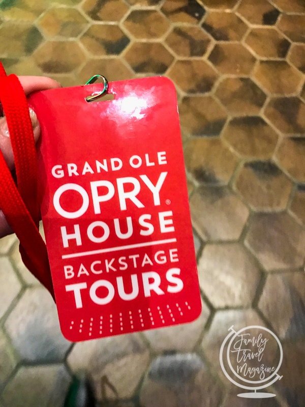Backstage ticket to the Grand Ole Opry tour