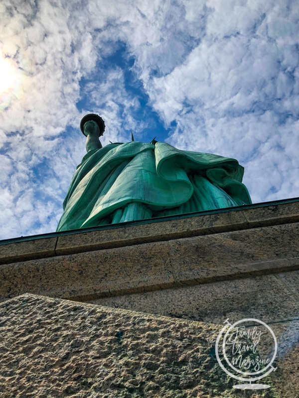The Statue of Liberty from below