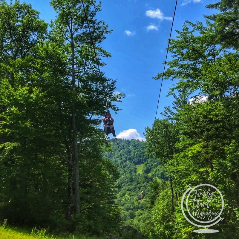 Zip line at Attitash