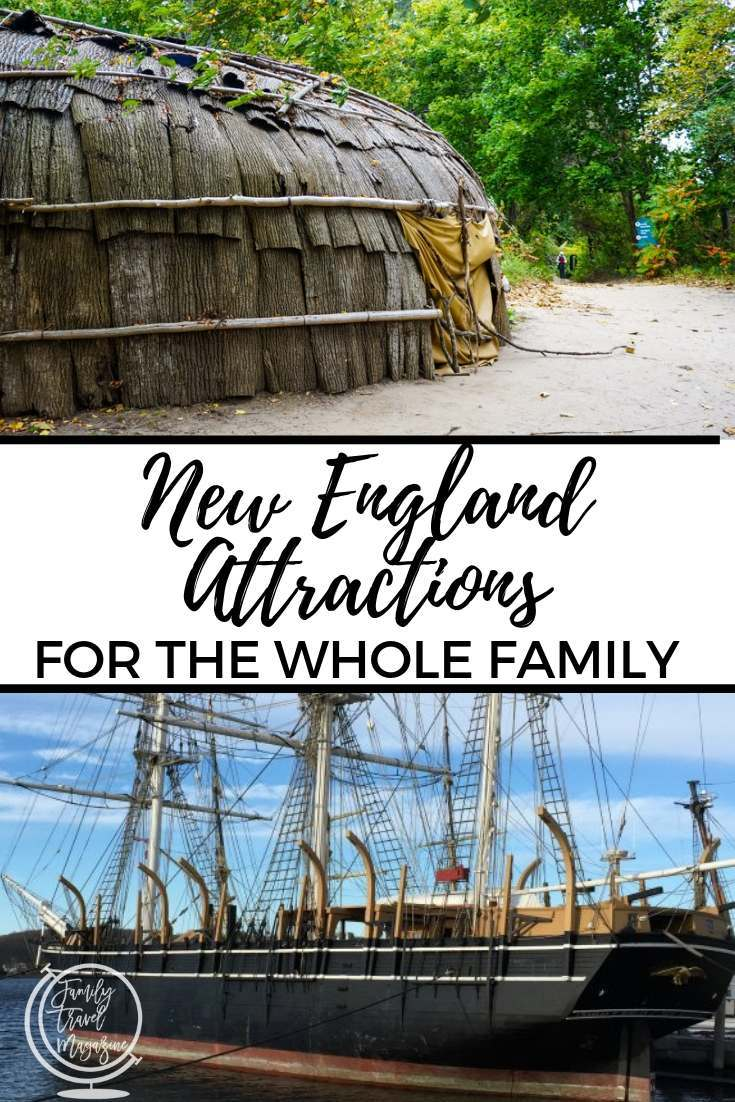 New England attractions for the whole family, including kid-friendly attractions for great road trips in Maine, New Hampshire, Connecticut, Rhode Island, and Massachusetts.