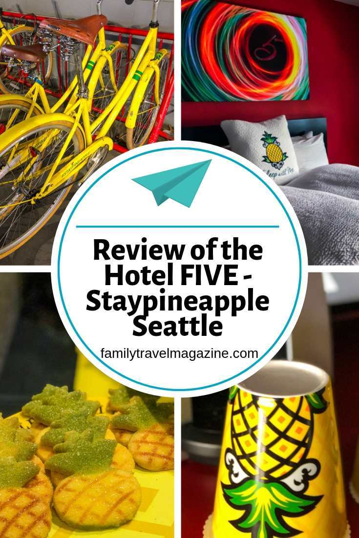 A review of the Hotel FIVE - Staypineapple Seattle hotel, located within walking distance of Pike Place Market and the Space Needle.