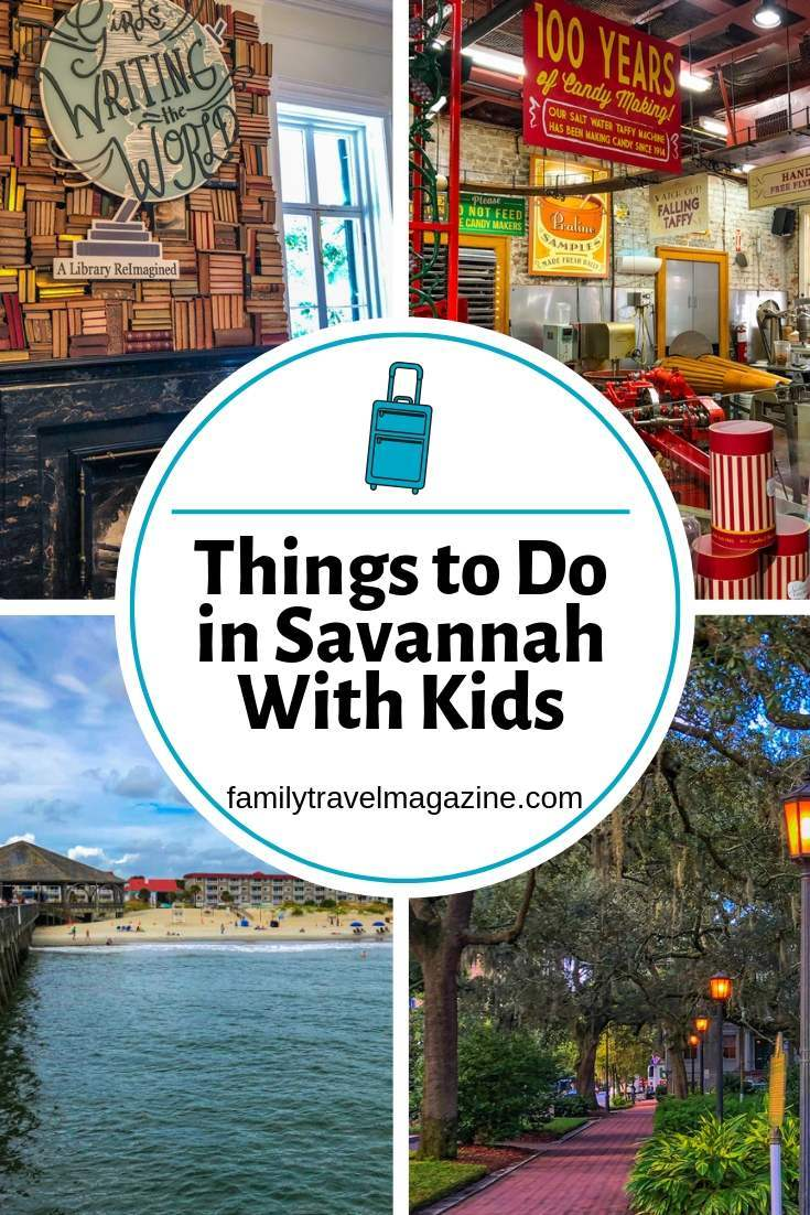 Things to do in Savannah GA with kids including the Juliette Gordon Low birthplace, Tybee Island, City Market, and more.