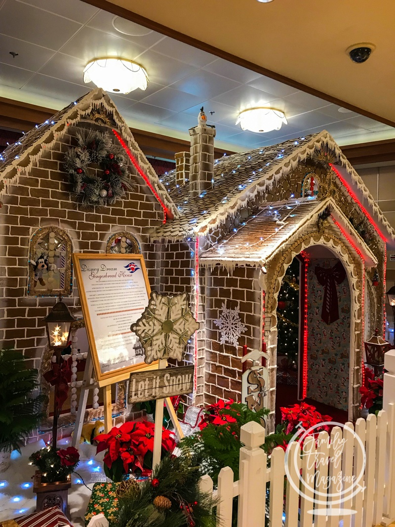 Gingerbread house on the Disney Cruise Line's Very Merrytime Cruise