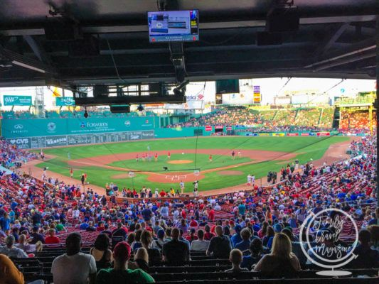 Fenway Park during a game