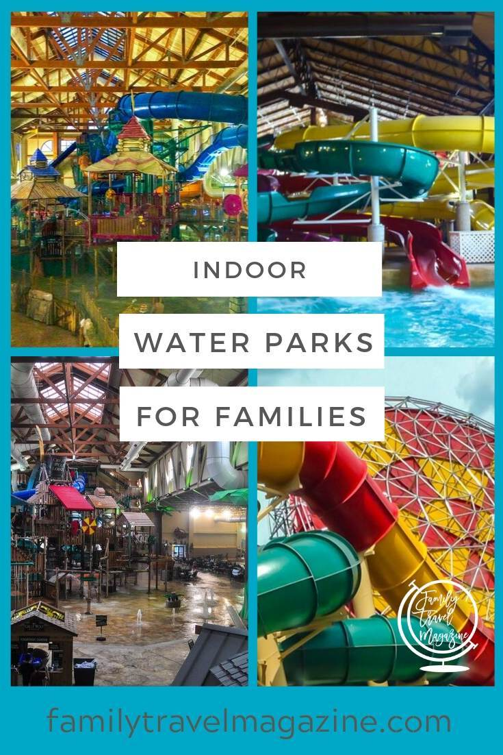 An overview of US indoor water parks for families including locations in Nashville, Wisconsin, Pennsylvania, and New Hampshire.