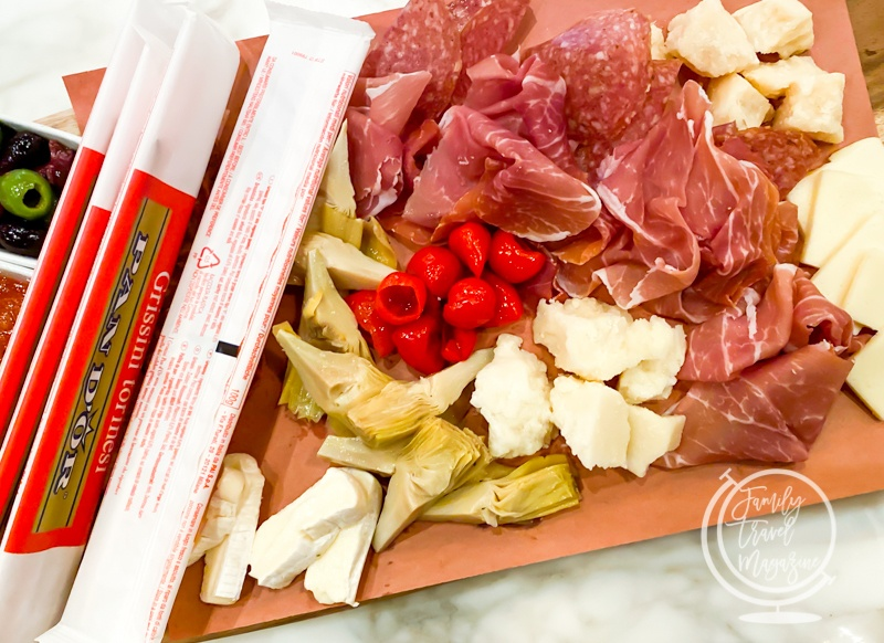 The charcuterie platter at Enzos