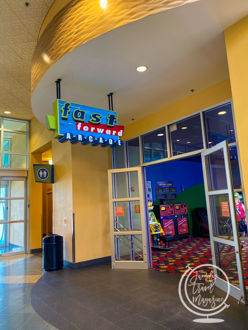 The arcade at Pop Century Resort