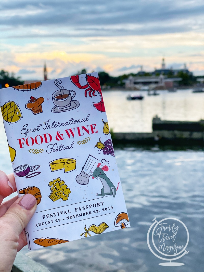 The festival passport for the Epcot International Food and Wine Festival