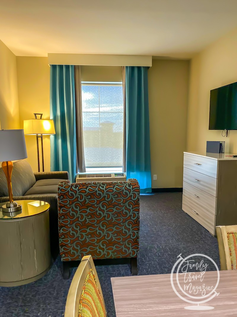 Living room area at the Homewood Suites by Hilton Orlando