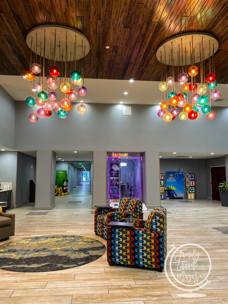 The lobby of the Homewood Suites by Hilton Orlando Theme Parks